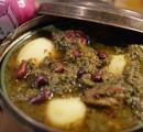 آشپزی,آبگوشت,آبگوشت قورمه سبزی,غذای سنتی همدان,shabnamha.ir,شبنم همدان,afkl ih