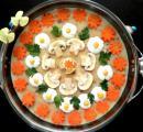 سوپ جو,تزیین,تزیین سوپ جو با شیر,shabnamha.ir,شبنم همدان,afkl ih,شبنم ها;