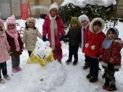 شبنم ها, shabnamha, ساخت آدم برفی , برف بازی, afkl ih, shabnamha.ir
