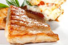 استیک ماهی با سس تارتار و زیره